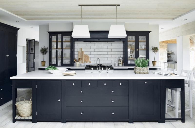 Кухни в черно-белых тонах